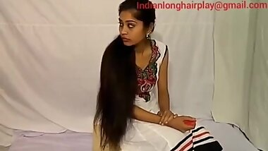 Indian Rapunzel lady Mannu extreme hair play by young man full video.. source from you tube