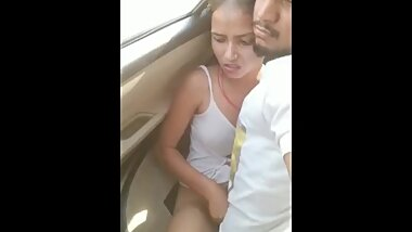 Indian couple sex in car