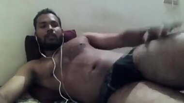 Indian guy showing his huge ass and thighs